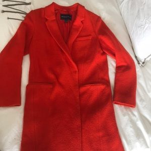 Red French Connection Boyfriend Coat